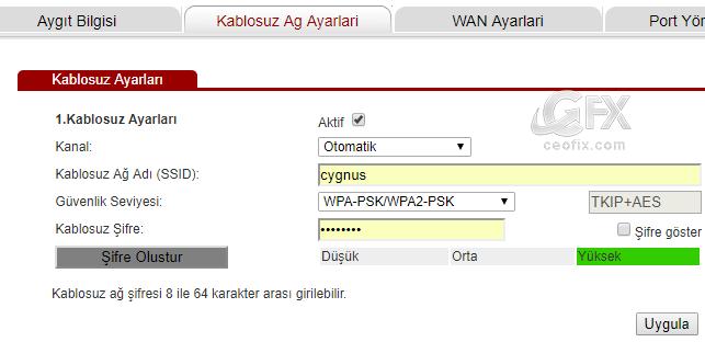 Kablosuz Ağ Adı -www.ceofix.com