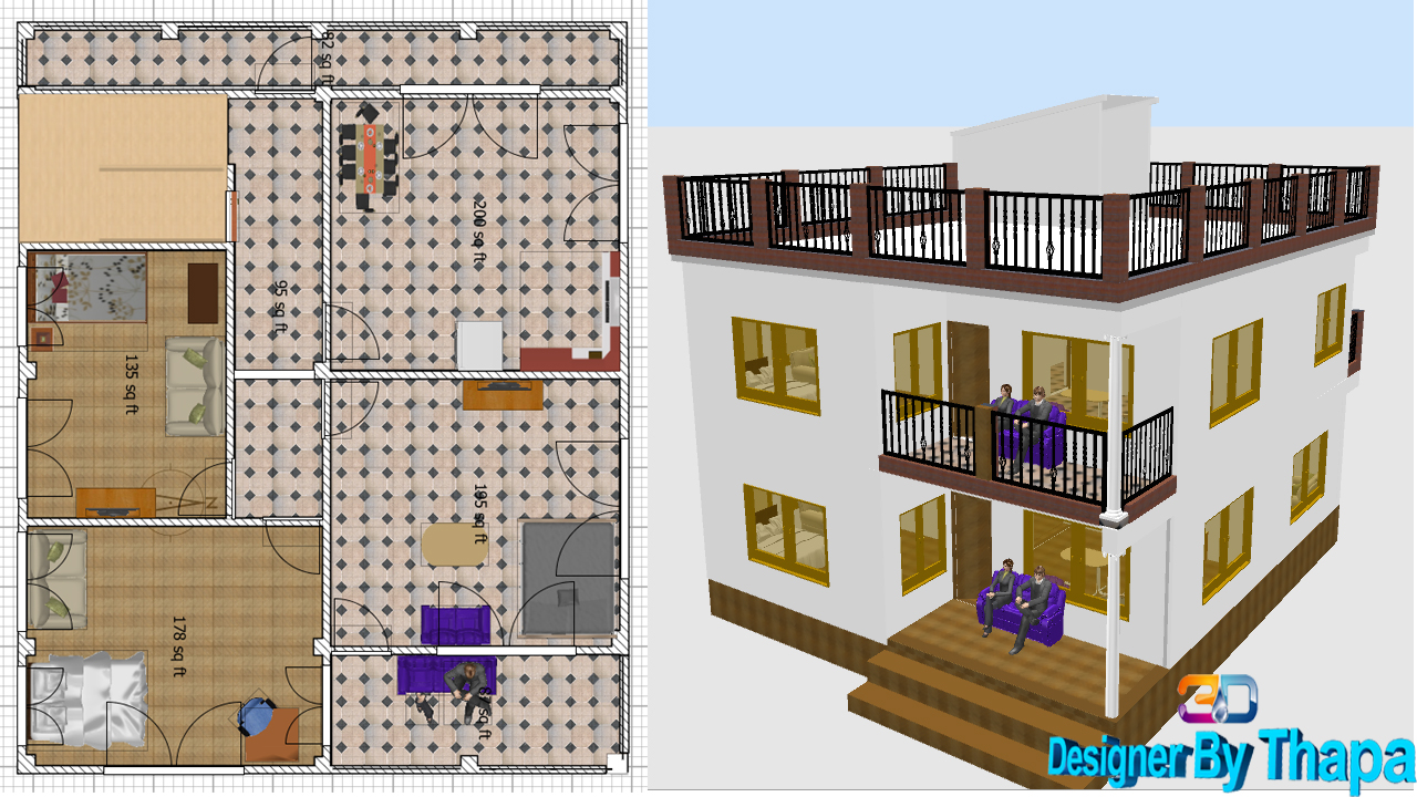 How to Create1st Floor in Sweet Home 3D || interior design ...