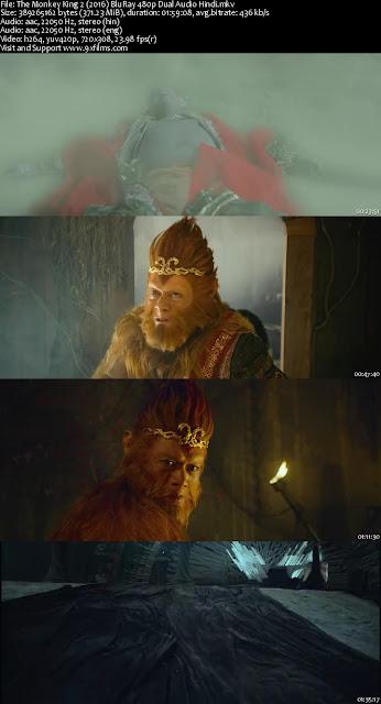 The Monkey King 2 2016 BluRay 480p Dual Audio Hindi
