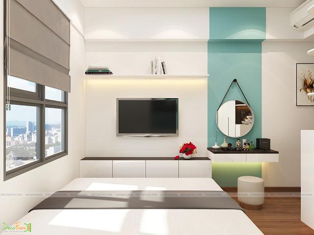 Thiết kế và thi công hoàn thiện nội thất căn hộ chung cư Kingsway Tower - Phòng Master