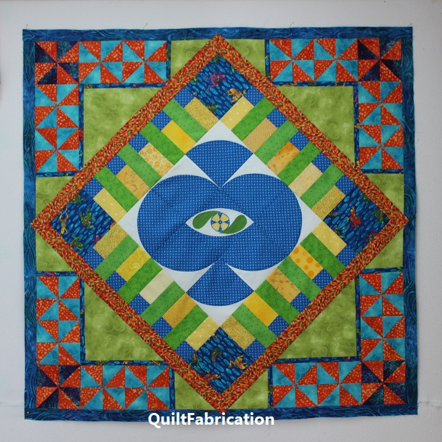 first stay at home round robin quilt at QuiltFabrication
