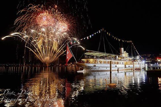 Steamer SCHILLER - Fireworks after Swiss TV-Show