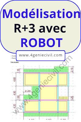 Exemple de modélisation avec Robot - Villa R+3