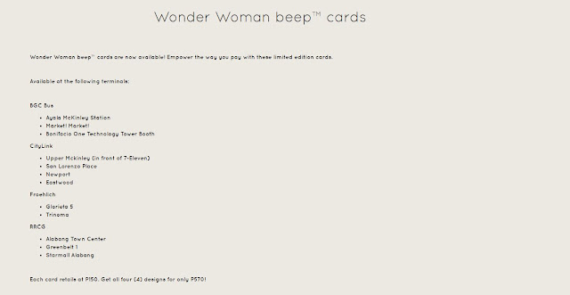 Wonder Woman Beep Card details