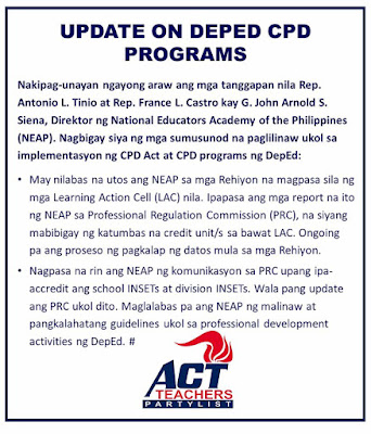 Programs implemented by dep ed