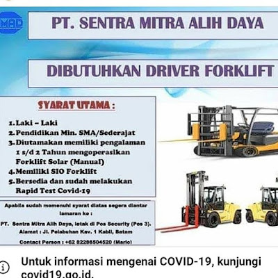 Kerjabatam.com PENGUMUMAN RESMI LOKER PT. Sentra Mitra Alih Daya