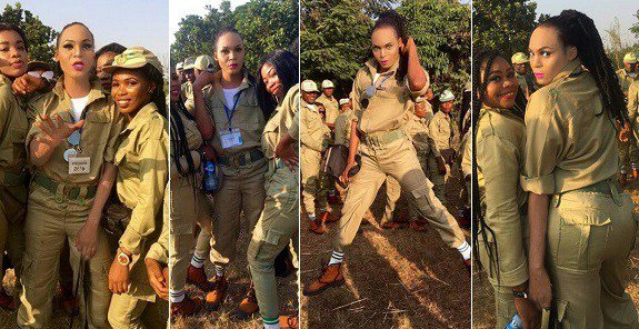 """Photos of the new """"Bobrisky"""" as he steals the show at NYSC Orientation camp"""