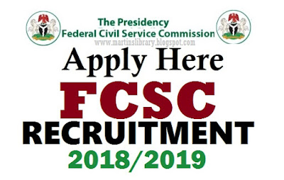 2019/2020 FCSC Recruitment Is Out | Federal Civil Service Forms Download – Apply Now