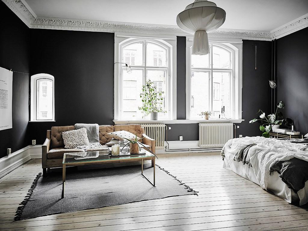 decoracion pintar paredes colores oscuros - Decoracion Pintura Paredes