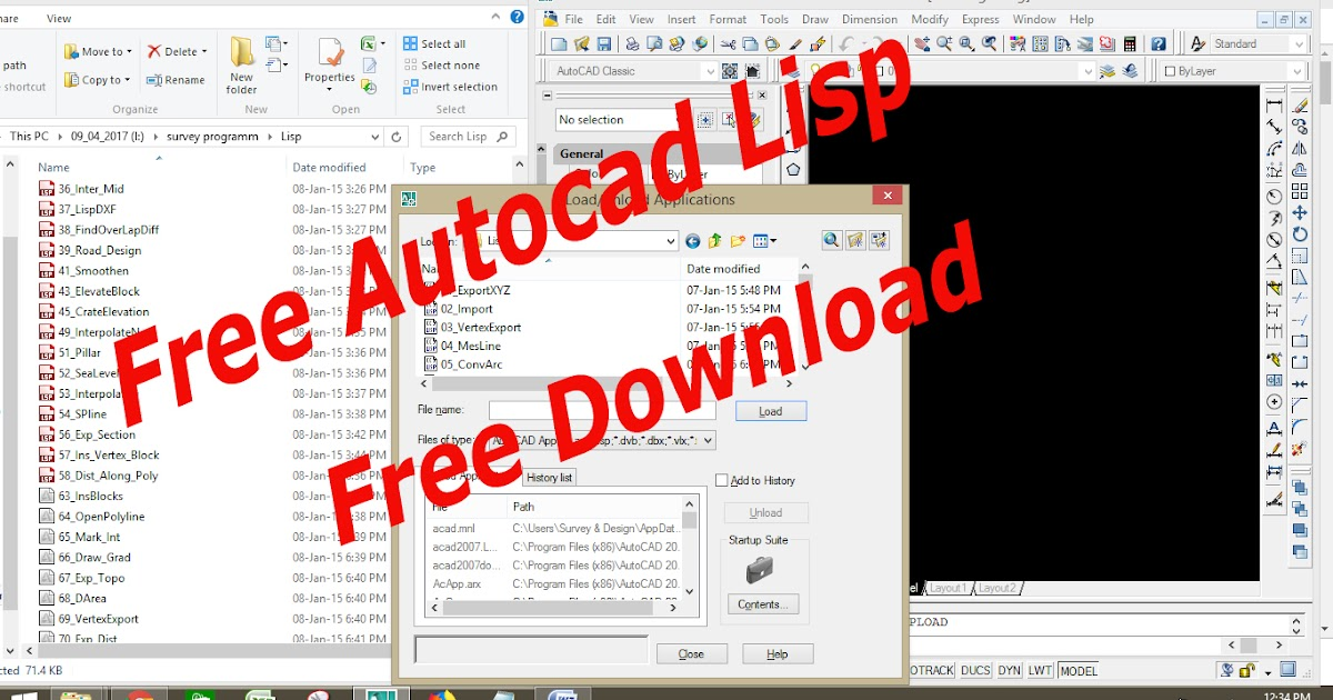 autocad lisp for coordinates free download