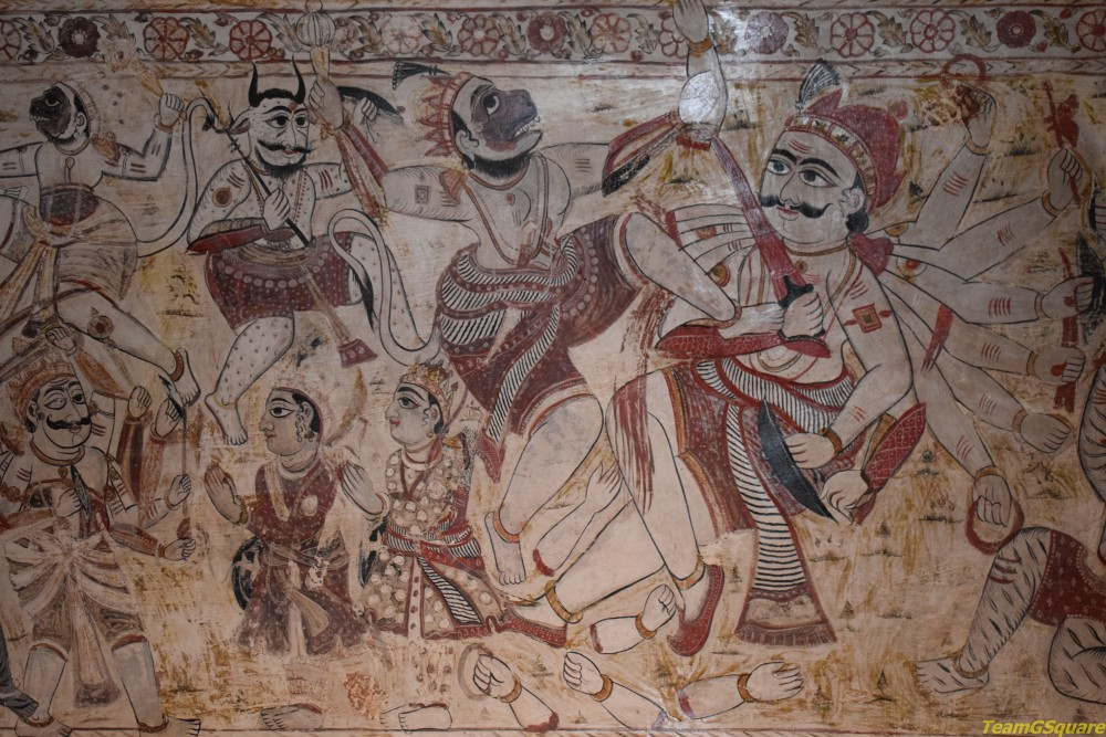 Paintings of Lakshmi Temple, Orchha