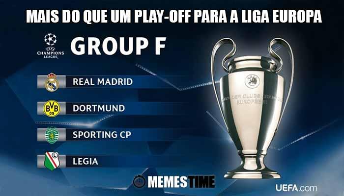 Memes Time Grupo F da Fase de Grupos da Champions Leage Sporting-SCP – Mais do que um Play-off para a Liga Europa