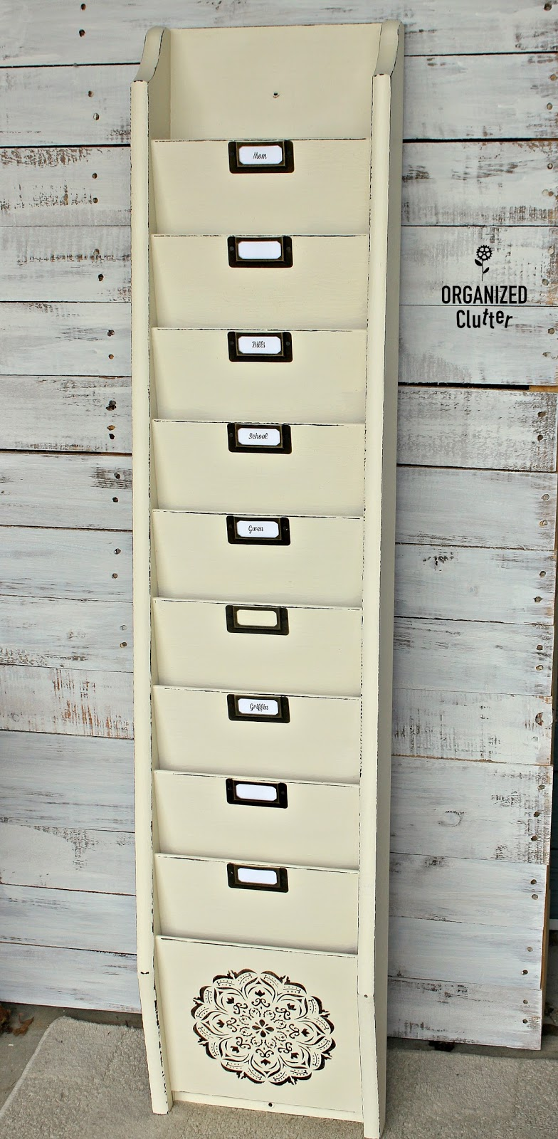 Thrift Shop Wall Magazine Holder to Family File Organizer