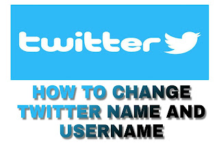 Twitter logo on how to change name and username