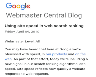 Reduce website speed for ranking