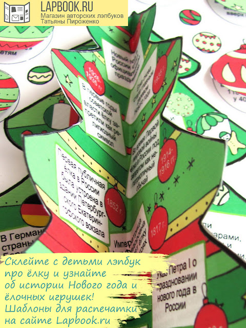 лэпбук о новогодней елке