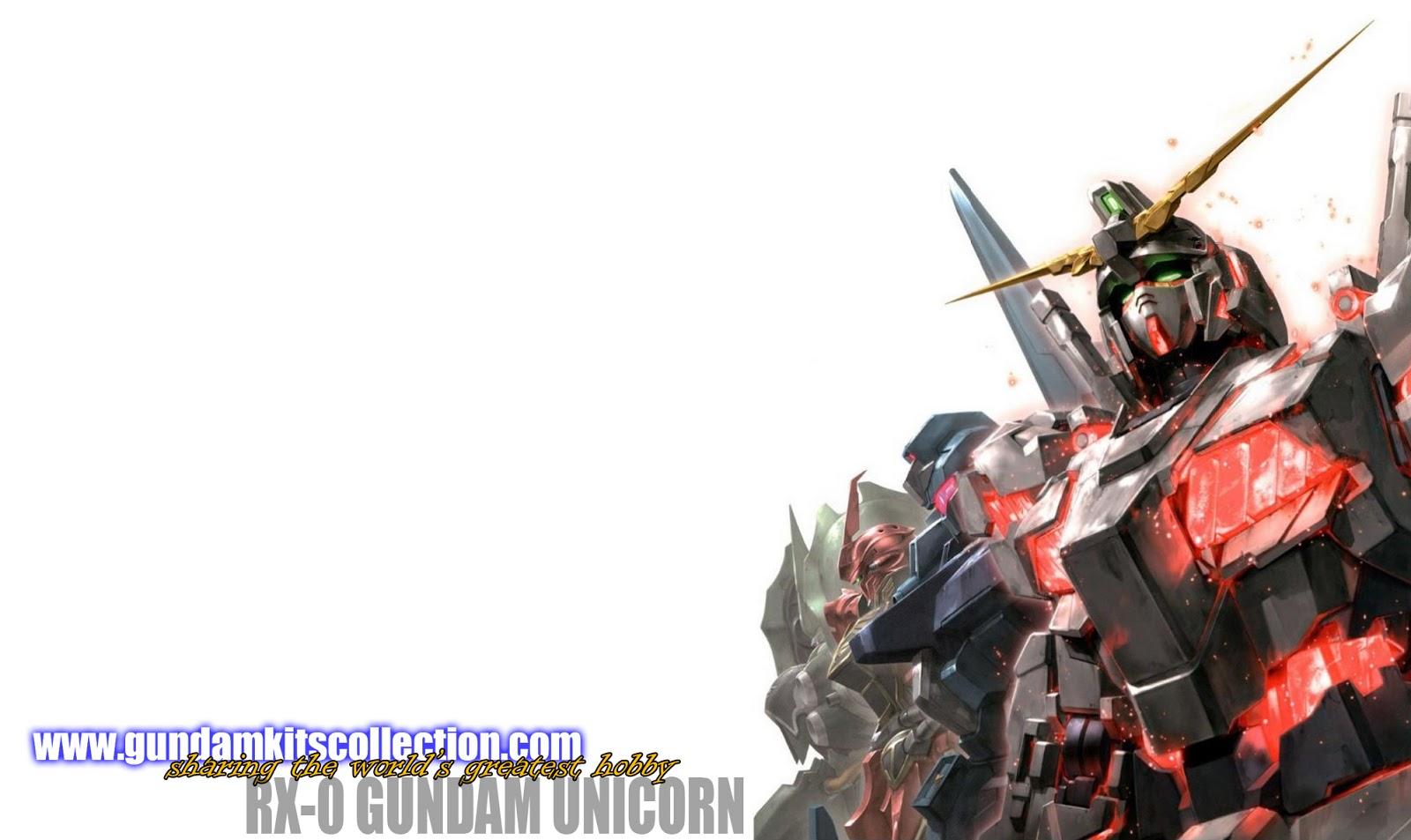 Gundam Unicorn and Banshee Wallpaper - Gundam Kits ...  Gundam