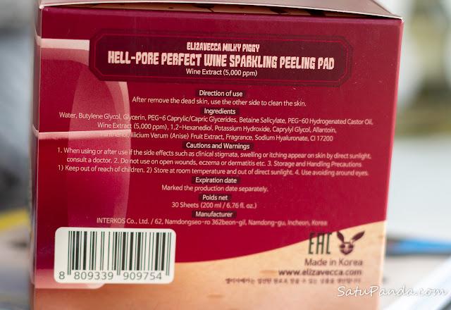Elizavecca Hell-Pore Perfect Wine Sparkling Peeling Pad отзыв