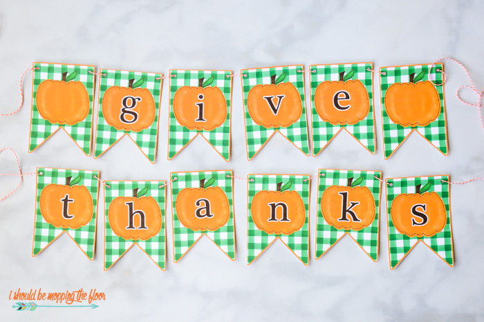 Free Thanksgiving Banner Printable