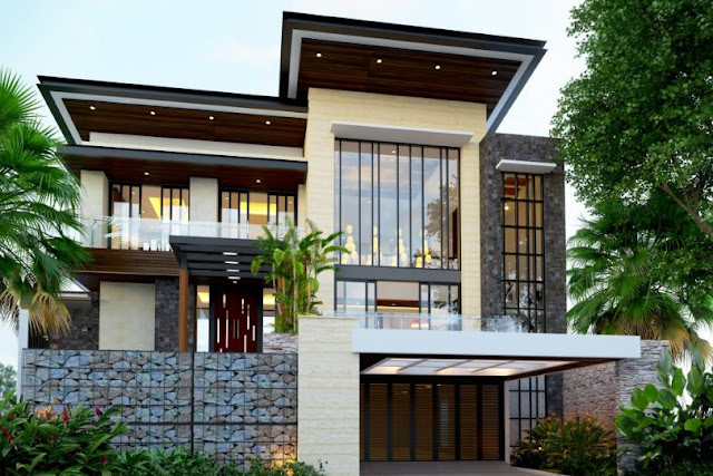 desain rumah minimalis modern dengan rooftop