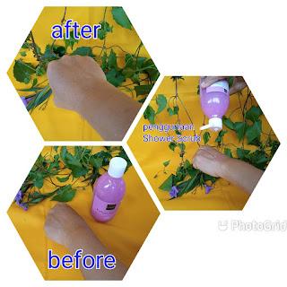 Hasil Penggunaan Brightening Shower Scrub
