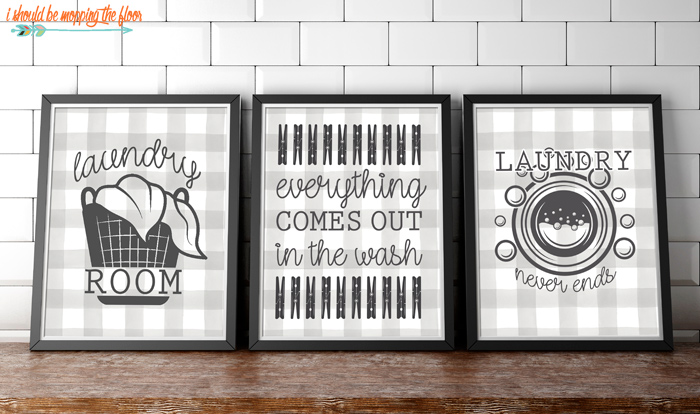 Printables for a Laundry Space