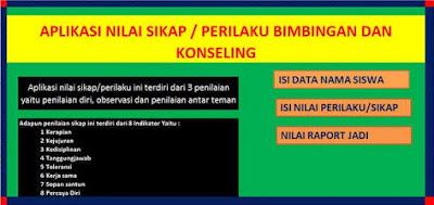 Format Penilaian Sikap BK Kurikulum 2013 Excel