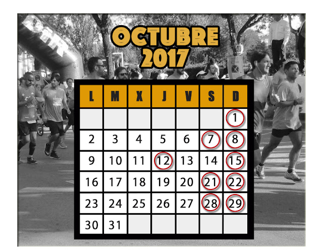 Calendario carreras Octubre 2017
