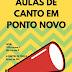 Ponto Novo: Projeto Escolas Culturais oferece aulas gratuitas de canto nesta semana, saiba mais