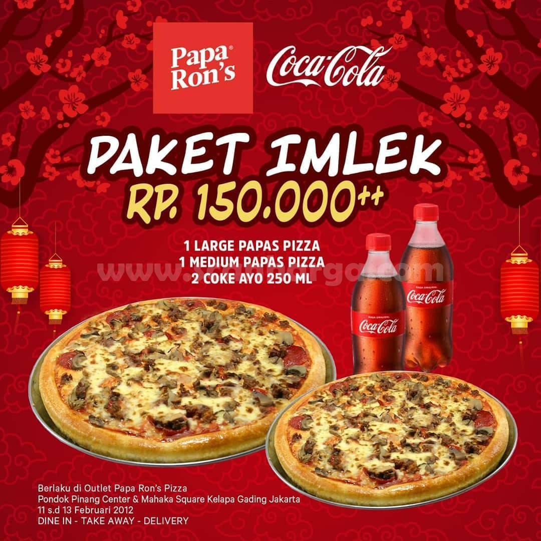 Papa Ron's Pizza Promo Spesial Paket Imlek Rp150.000++