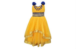 AD & AV PARTYWEAR YELLOW PREMIUM FROCK For Rs 50 Only Amazon