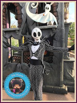 Diana la Monchhichi  fête Halloween à Disneyland resort  Paris - Duffy dingo mickey phantom manor gusteau Minnie illumination eurodisney nostalgdykiki contestegreen  kiki