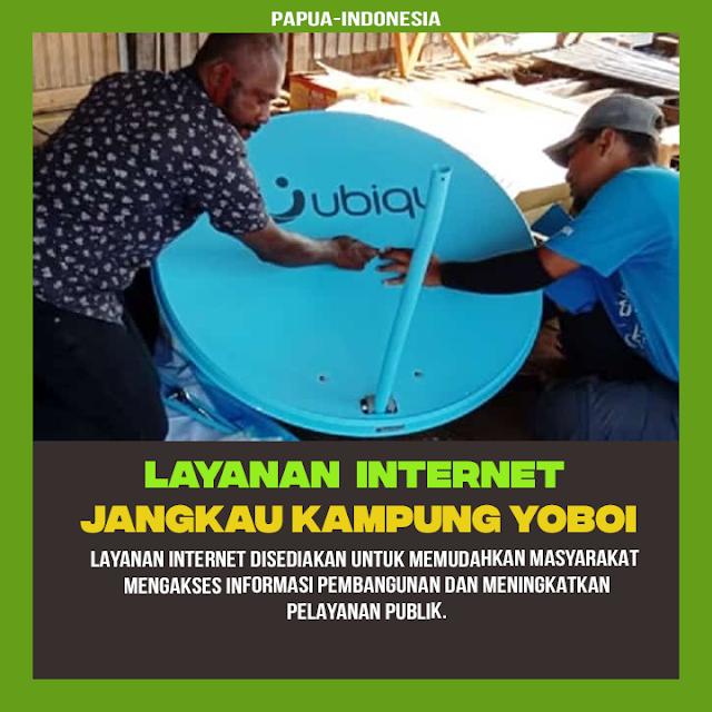 Tak Lama Lagi Kampung Yoboi Papua Bisa Menikmati Internet