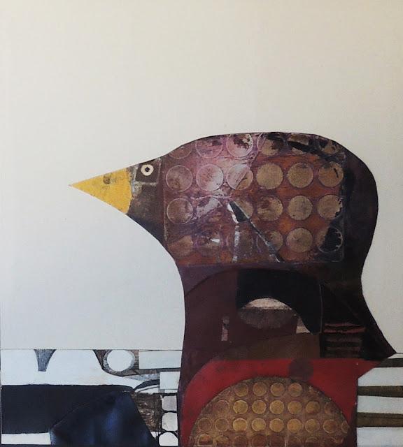 Antonio Andivero collage dibujo pájaro