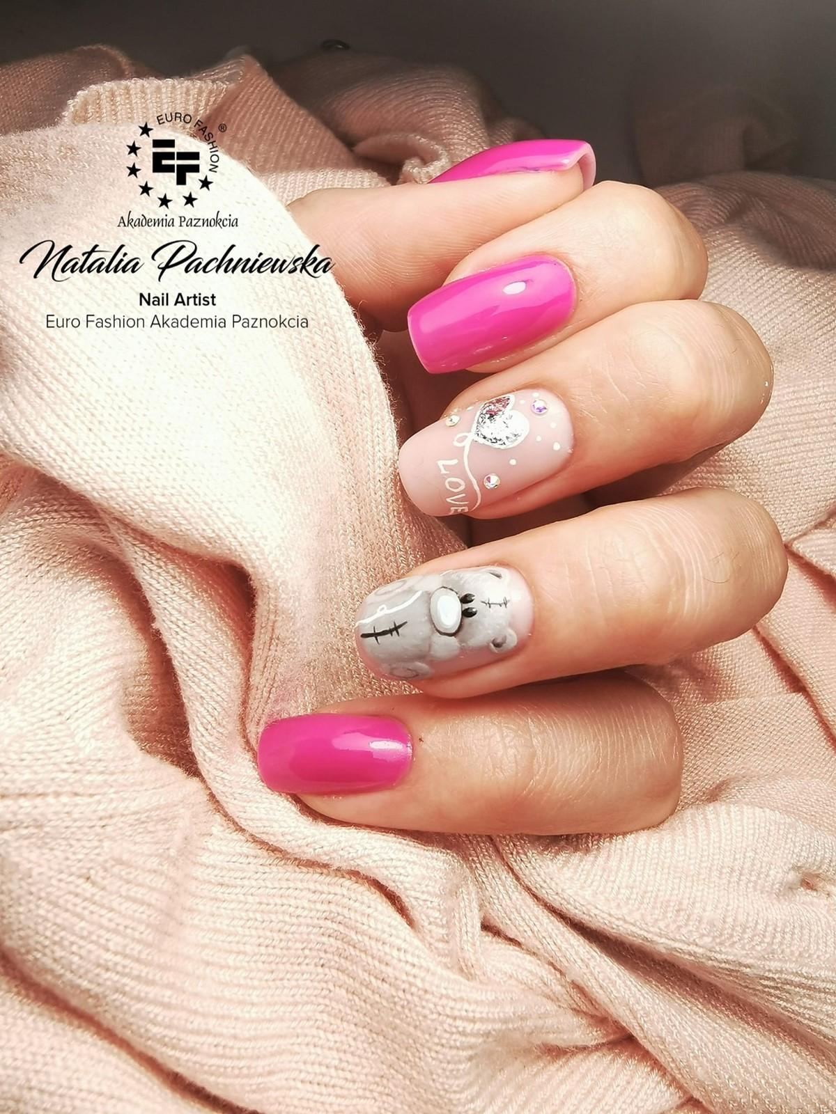 wzorki na paznokciach walentynkowych
