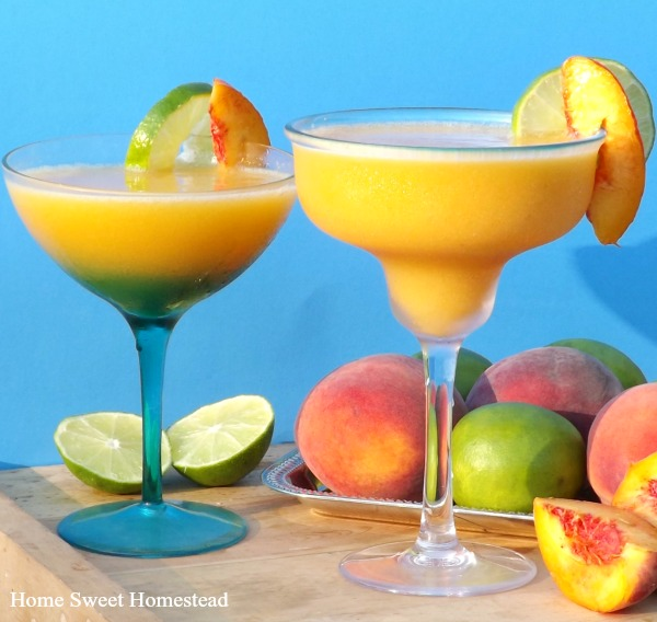 Veggies First Then Dessert - Frozen Peach Margarita