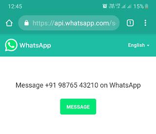 Open WhatsApp chat via link