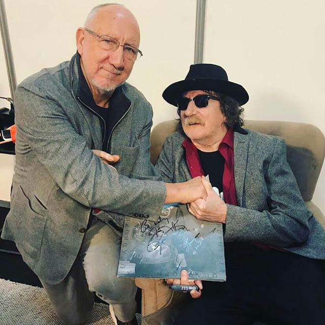 Reunión de leyendas; Charly García se encontró con The Who, e intercambiaron discos.