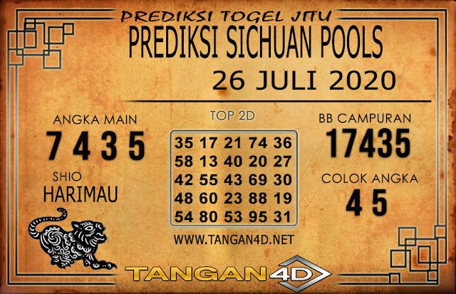 PREDIKSI TOGEL SICHUAN TANGAN4D 26 JULI 2020