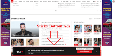 How to add Sticky Floating Bottom Ads in Blogger in Hindi