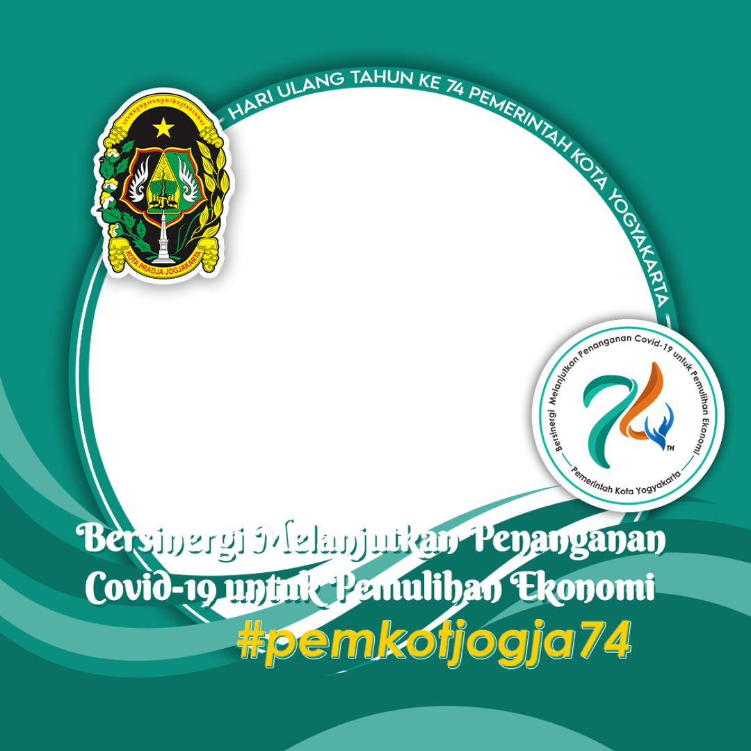 Link Desain Bingkai Twibbon HUT Pemerintah Kota Yogyakarta ke-74 Tahun 2021 - Twibbonize