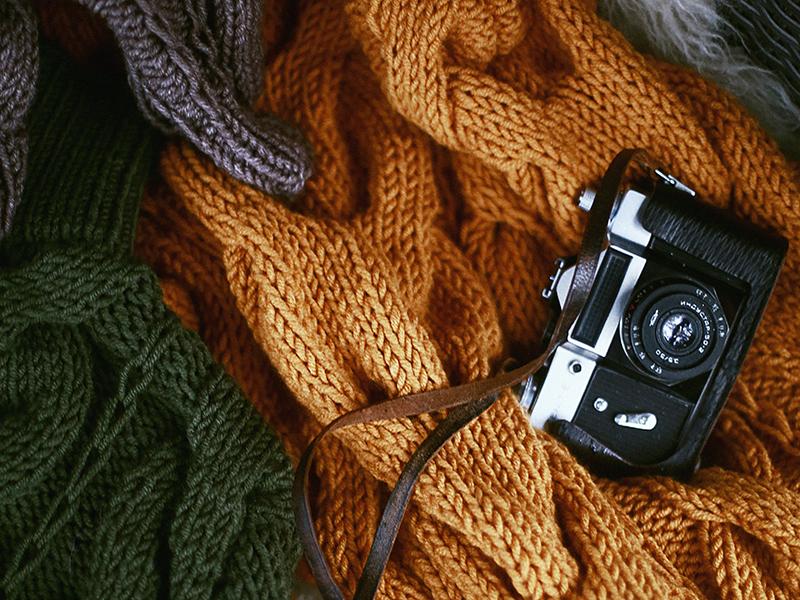 зимний свитер трикотаж
