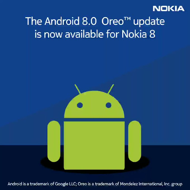 Nokia 8 gets Android 8.0 Oreo