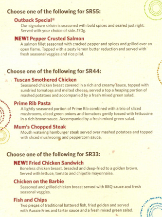 photo regarding Outback Steakhouse Printable Menu named Outback steakhouse lunch menu offers / Andres cuban