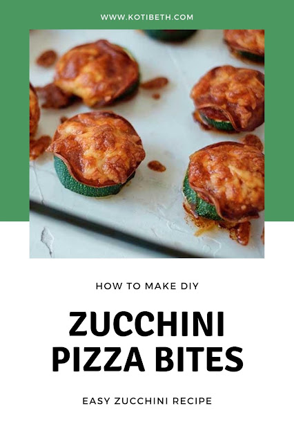 How to make easy zucchini pizza bites This easy low carb recipe can also be keto friendly with a keto pizza sauce. These make a quick and easy dinner, appetizer, or snack. These are baked, but there are also direction for an air fryer. Use your summer zucchini crop for this healthy recipe. #zucchini #pizzabites #recipe