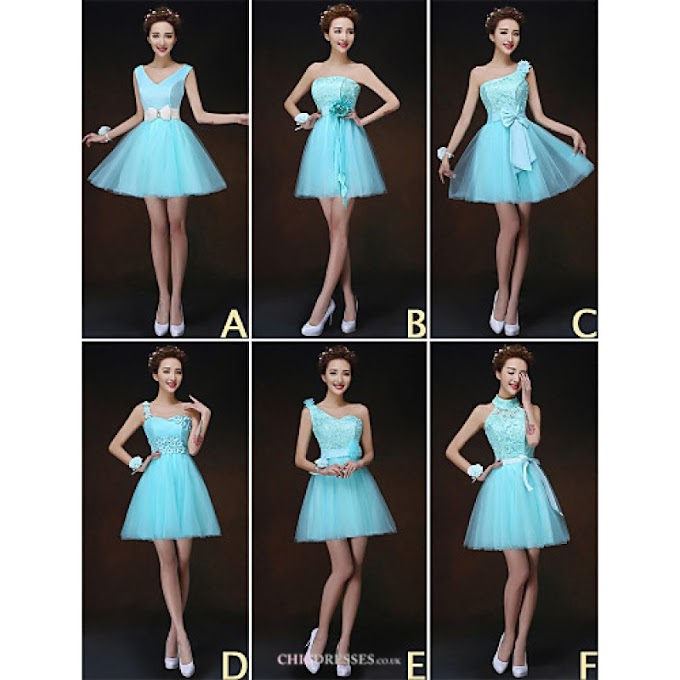Mix & Match Dresses Short/Mini Tulle and Lace 6 Styles Bridesmaid Dresses (3227834)