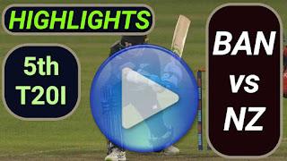 BAN vs NZ 5th T20I 2021
