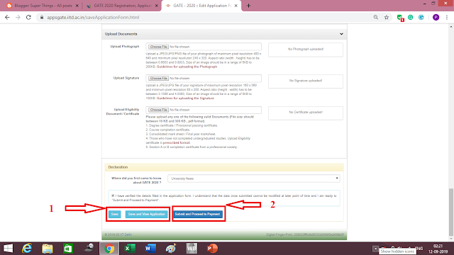 How to Submit GATE 2020 Application Form Step by Step
