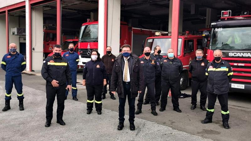 Επισκέψεις και ευχές του Αντιπεριφερειάρχη Έβρου σε Πυροσβεστική Υπηρεσία και Λιμεναρχείο Αλεξανδρούπολης