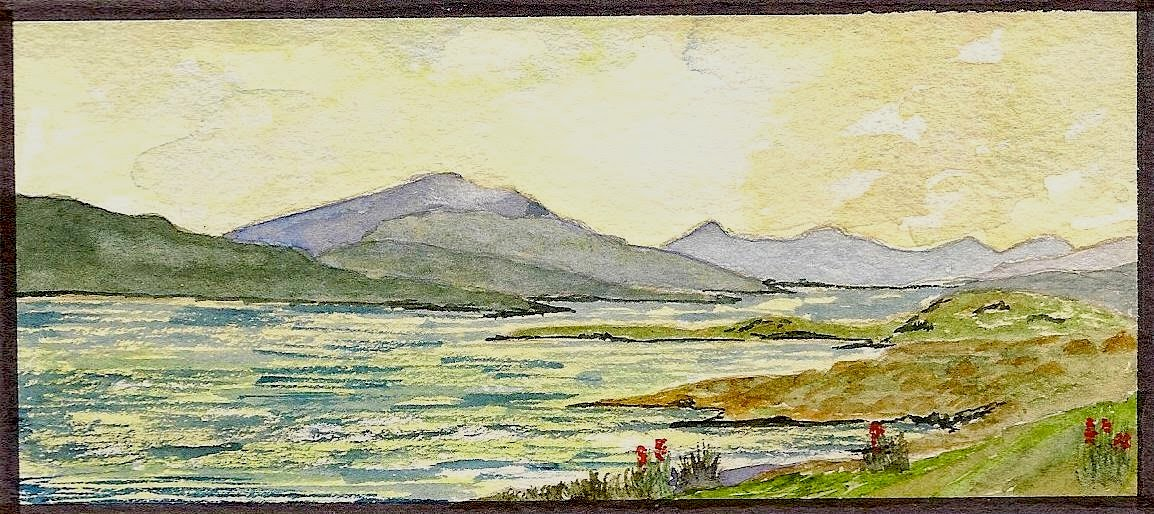 Mull across the Sound of Iona (Watercolour)